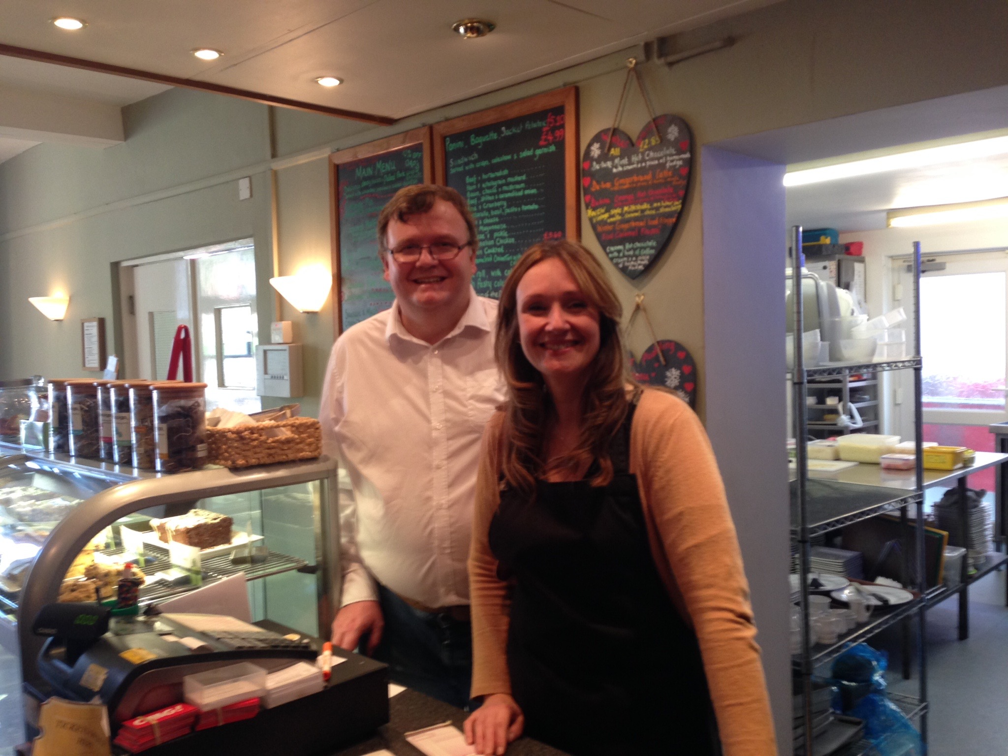 Meet Sam the café manager and volunteer, Dave!